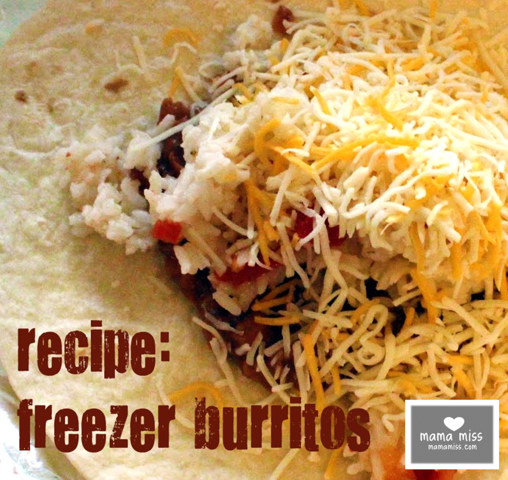 Plan out several meals and keep your freezer stocked with these Freezer Burritos - find the recipe on @mamamissblog