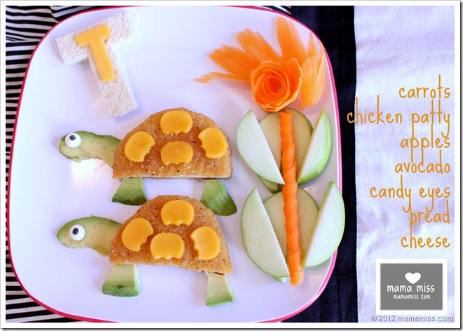 edible fun: T is for Turtle #funfood #kidfood @mamamissblog