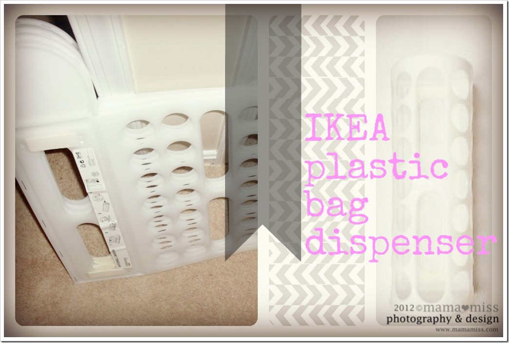 besides the average bag holder guess what these snazzy jazzy ikea plastic bag dispensers can be used for hmmmm