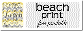 Beach Print Free Printable
