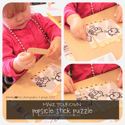 Popsicle Stick Puzzle https://www.mamamiss.com ©2013