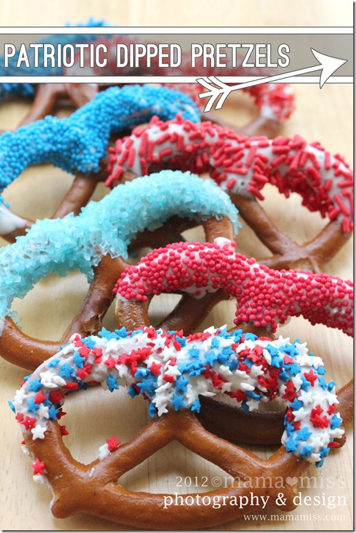 eats: patriotic dipped pretzels