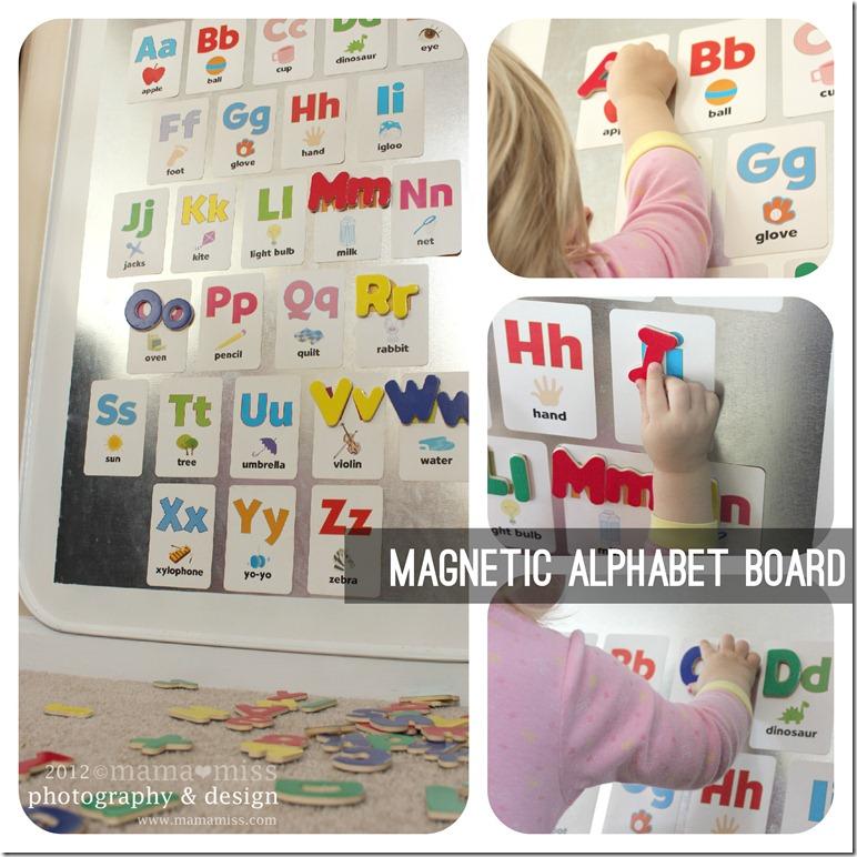 create kiddo magnetic alphabet board mama miss